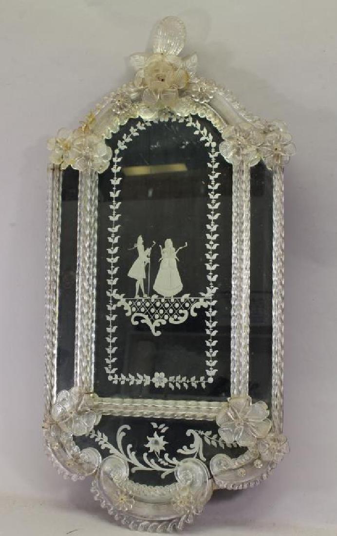 Antique European Figural Mirror