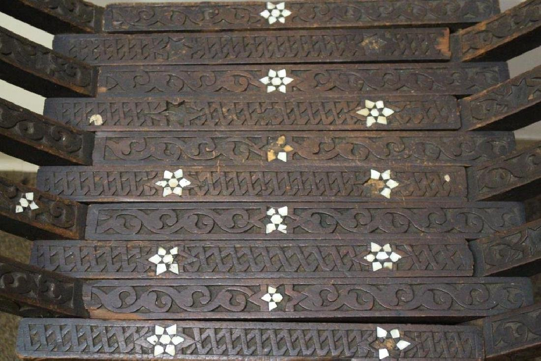 Antique Inlaid Syrian Hardwood Chair - 2