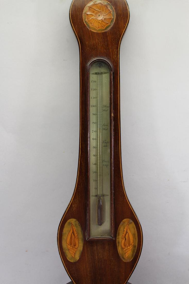 Antique Inlaid Barometer - 3