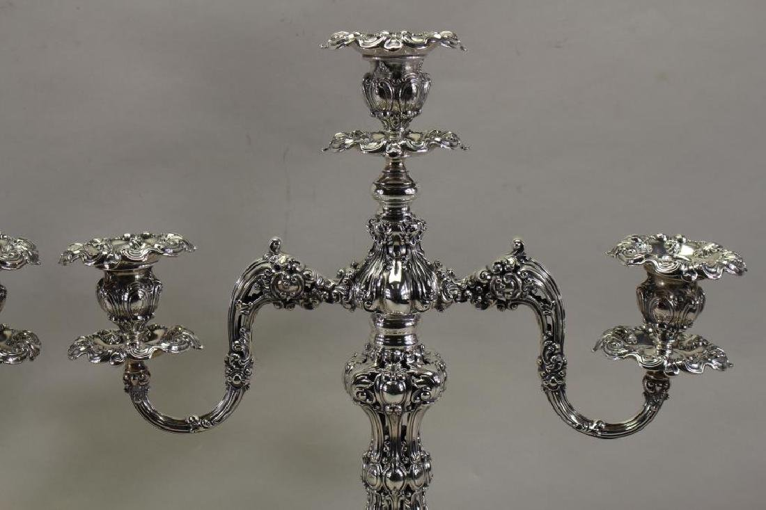 Pair of Silverplate 3-Arm Candelabra - 2