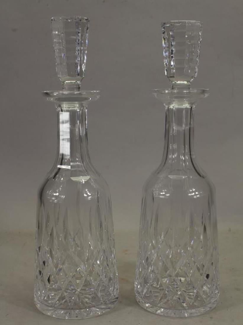 Pair of Waterford Crystal Decanters w/ Stoppers