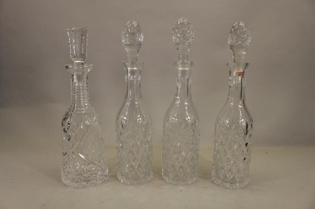 (4) Waterford Crystal Decanters