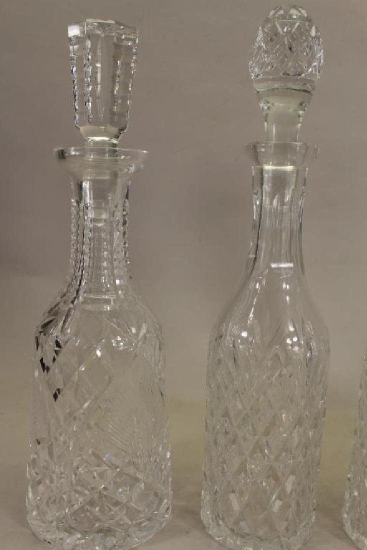 (4) Waterford Crystal Decanters - 2