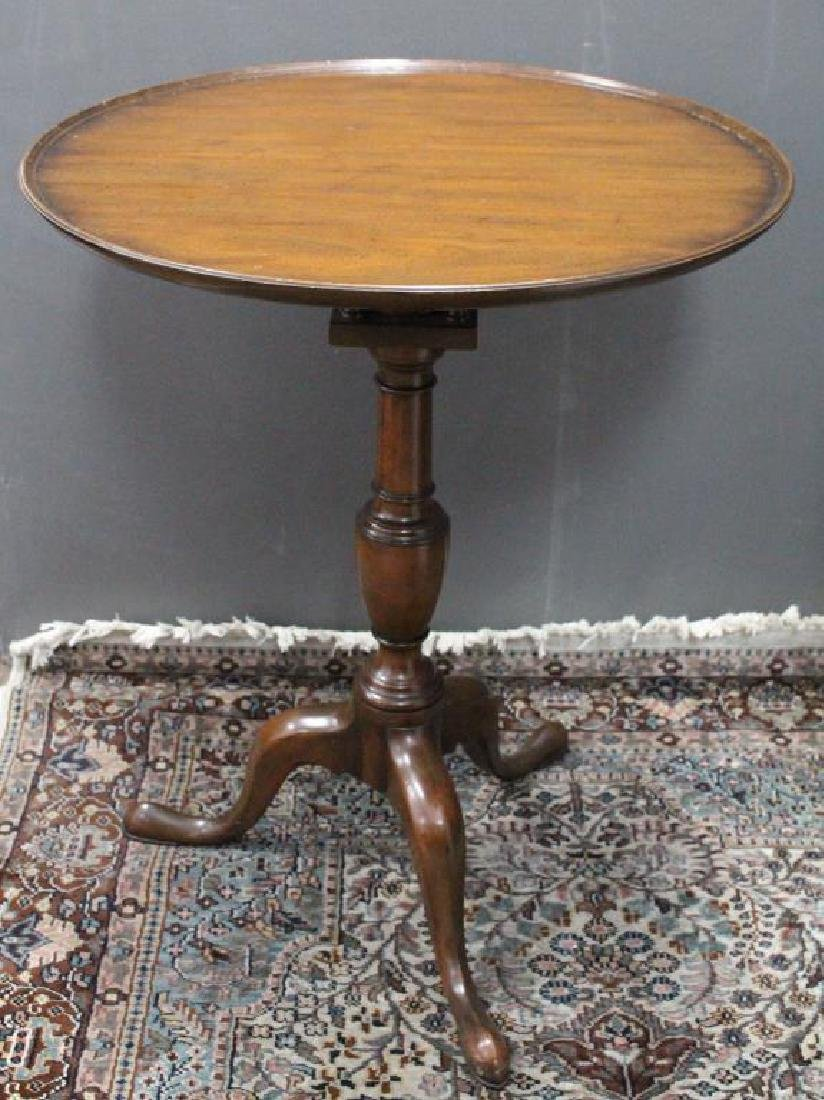 Queen Anne Style Wooden Tea Table
