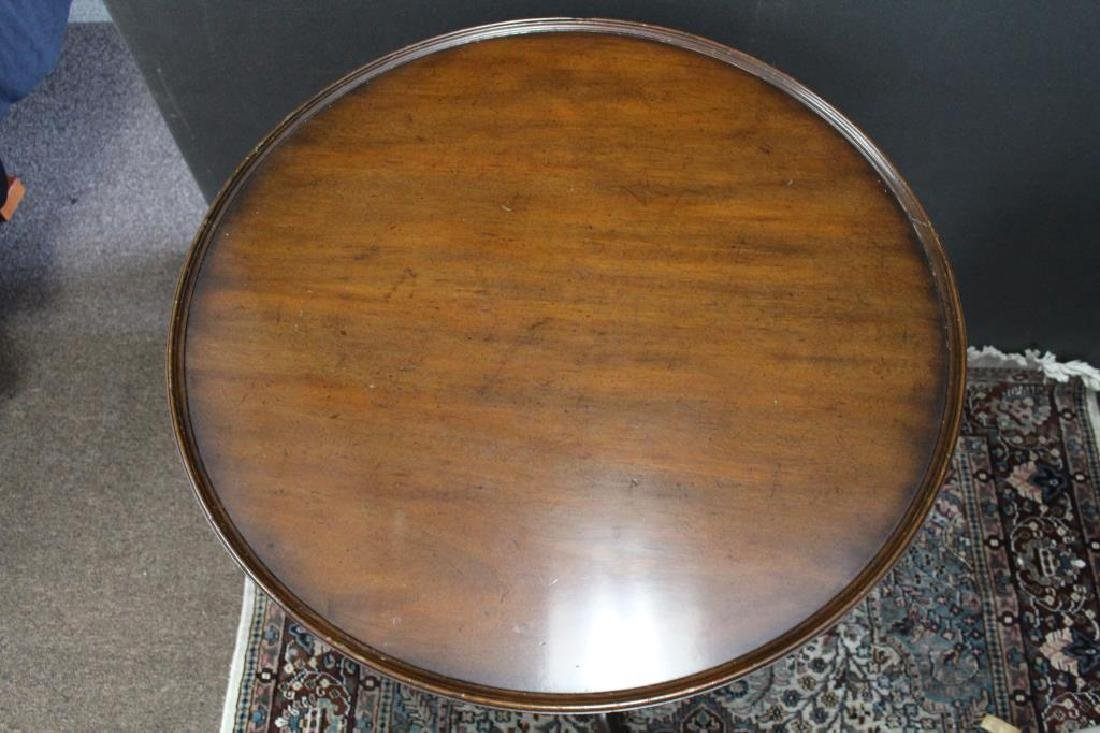 Queen Anne Style Wooden Tea Table - 2