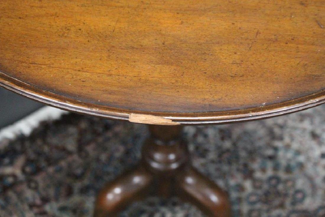 Queen Anne Style Wooden Tea Table - 3
