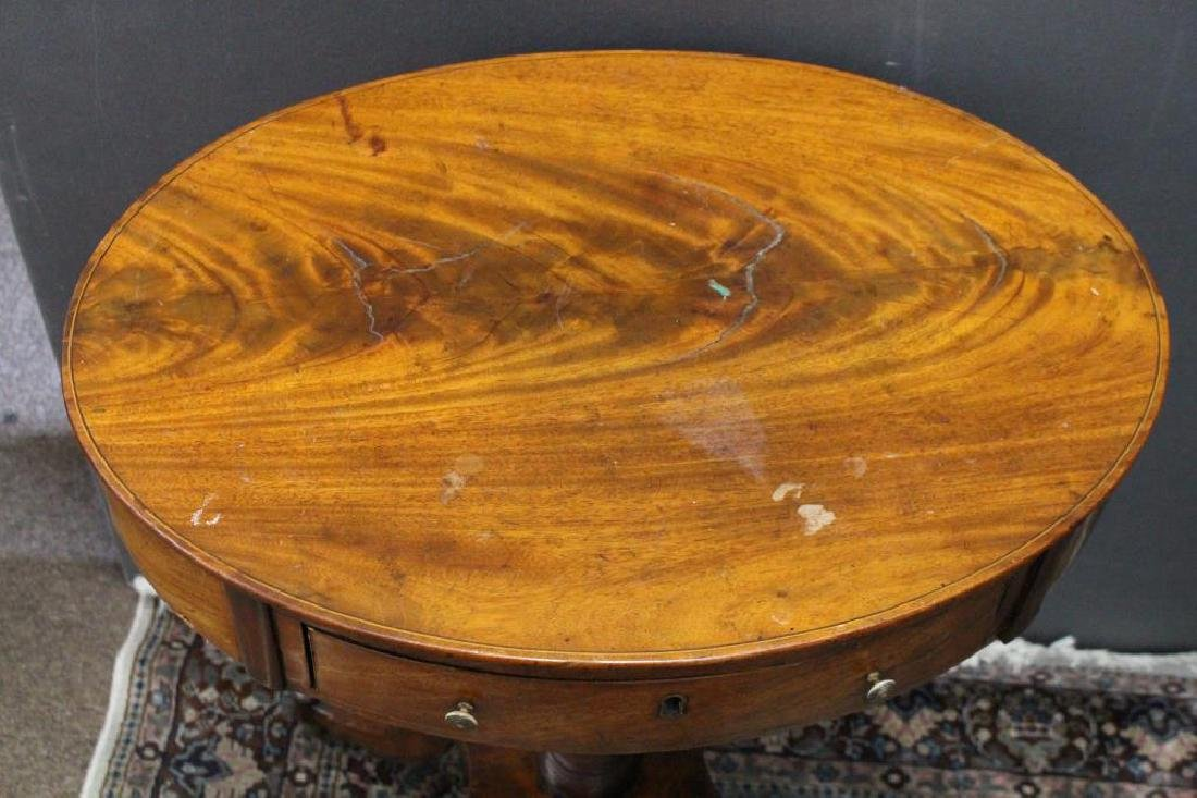 Antique European Side Table, Footed - 2