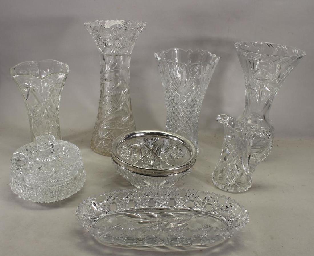 (8) Assorted Cut Glass Articles