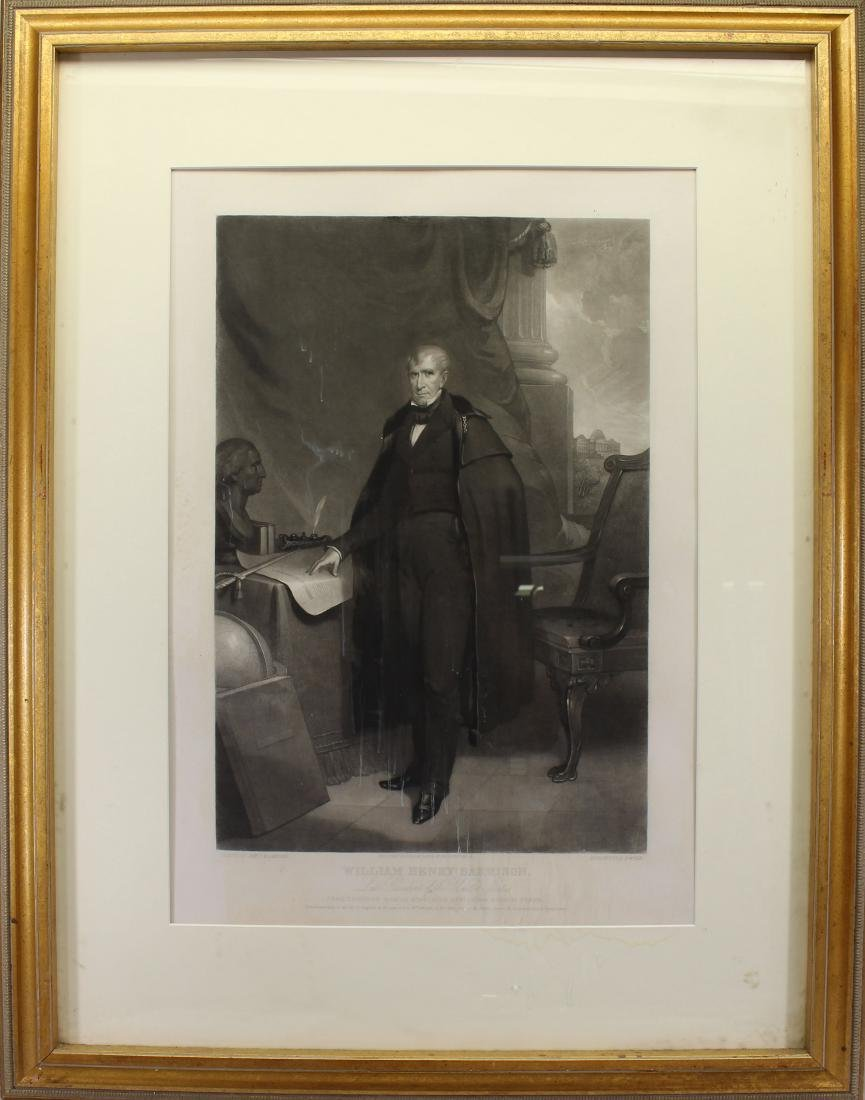 Antique Engraving of William Henry Harrison