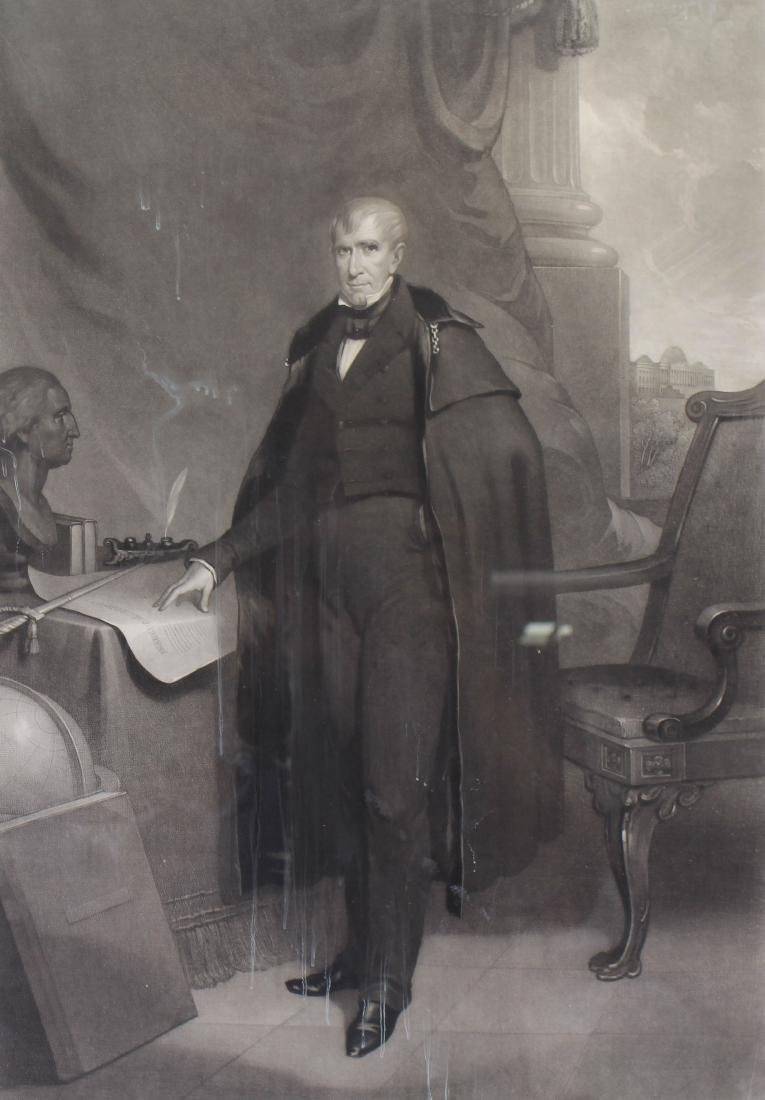 Antique Engraving of William Henry Harrison - 2