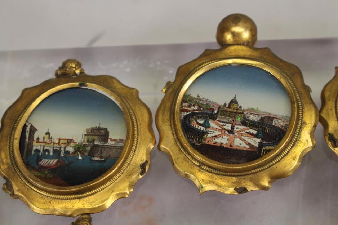 (7) European School Reverse Glass Painted Tondos - 2