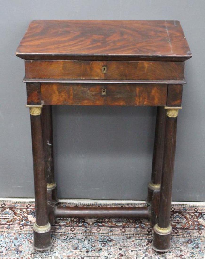 Antique Flip Top Dressing Table - 2