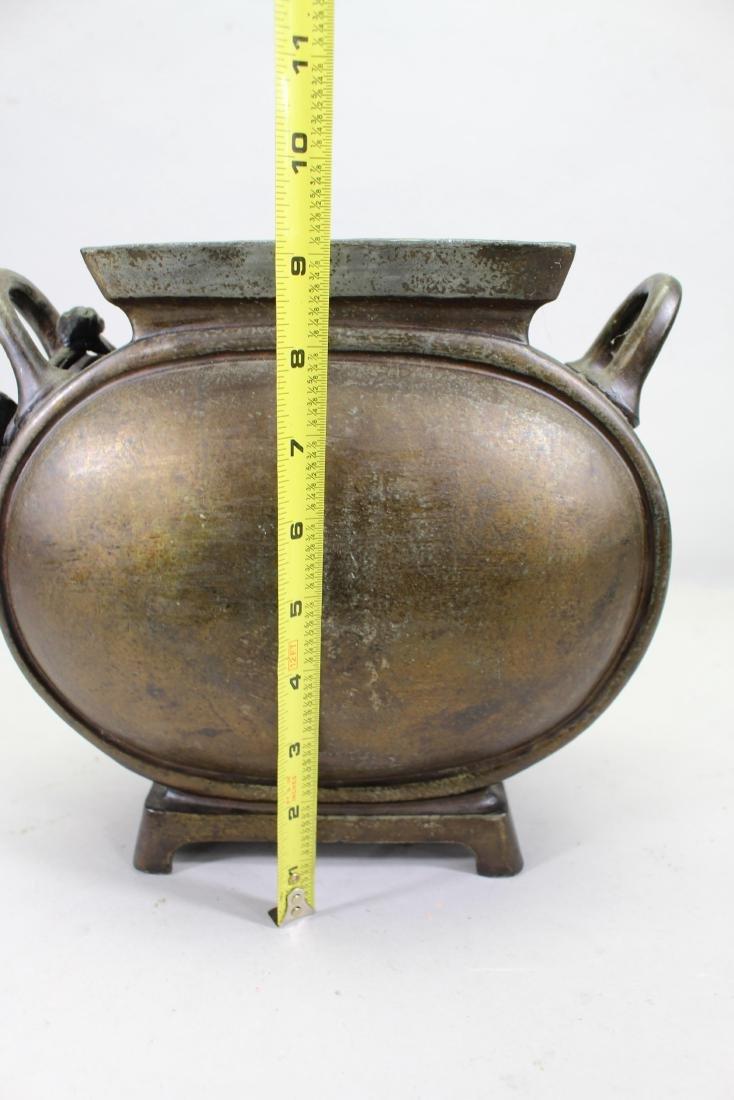 French, Bronze Twin Handled Vase with Cherub - 3