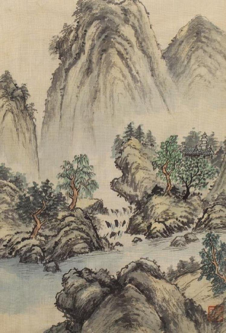 20th C. Chinese Watercolor/Ink Landscape - 2