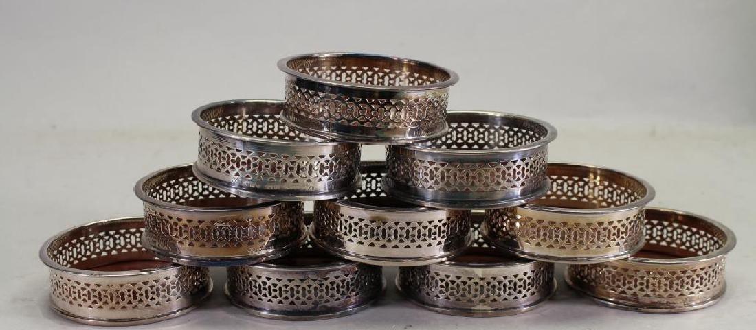 (10) Silverplate Coasters