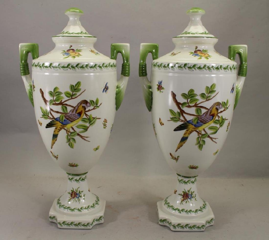 Pair Of Speer Collectible Painted Bird Vases