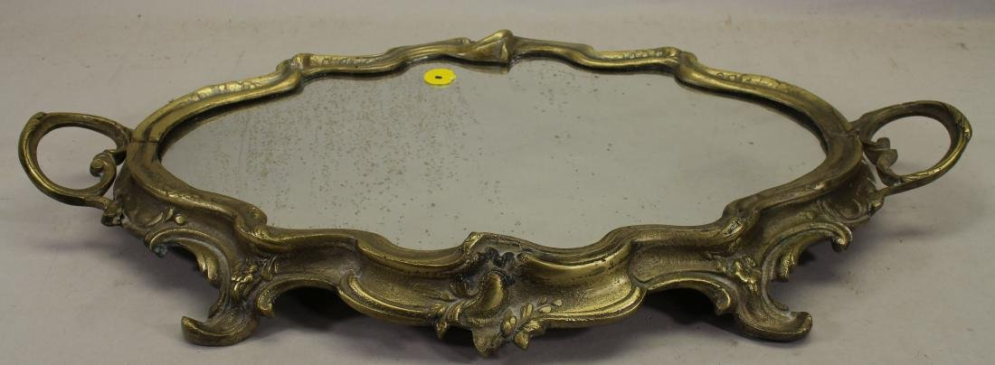 Antique Silvered Bronze Mirrored Tray