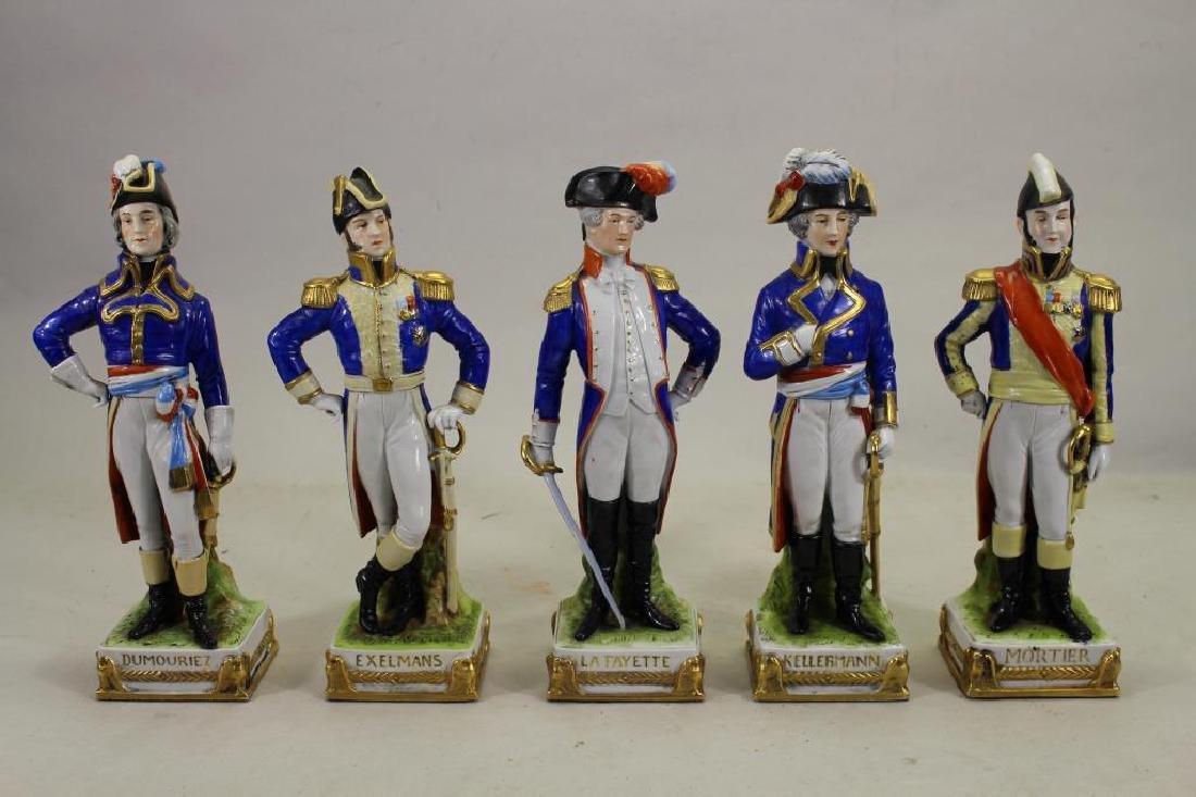 Set of 5 European Soldier Porcelain Figures