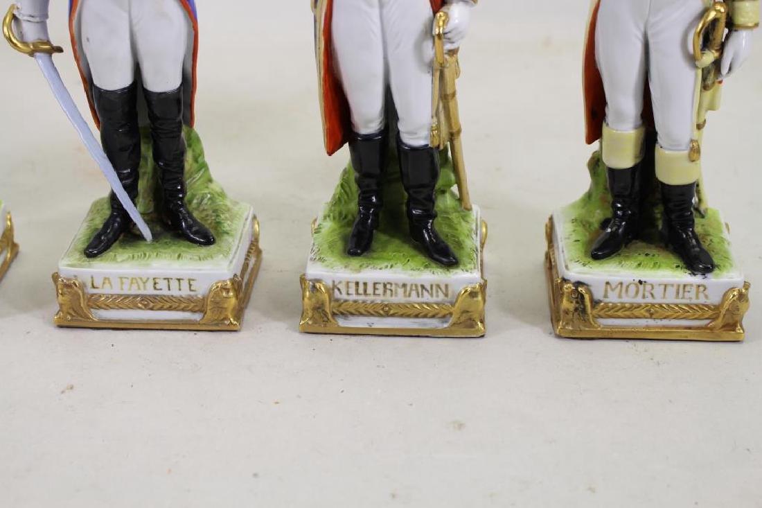 Set of 5 European Soldier Porcelain Figures - 3