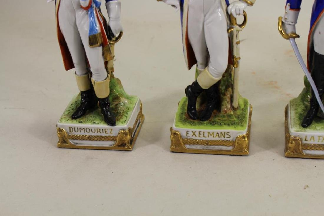 Set of 5 European Soldier Porcelain Figures - 4