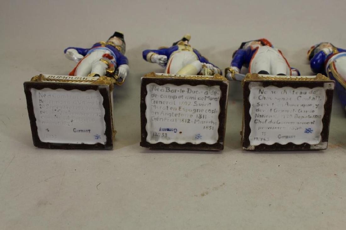 Set of 5 European Soldier Porcelain Figures - 5