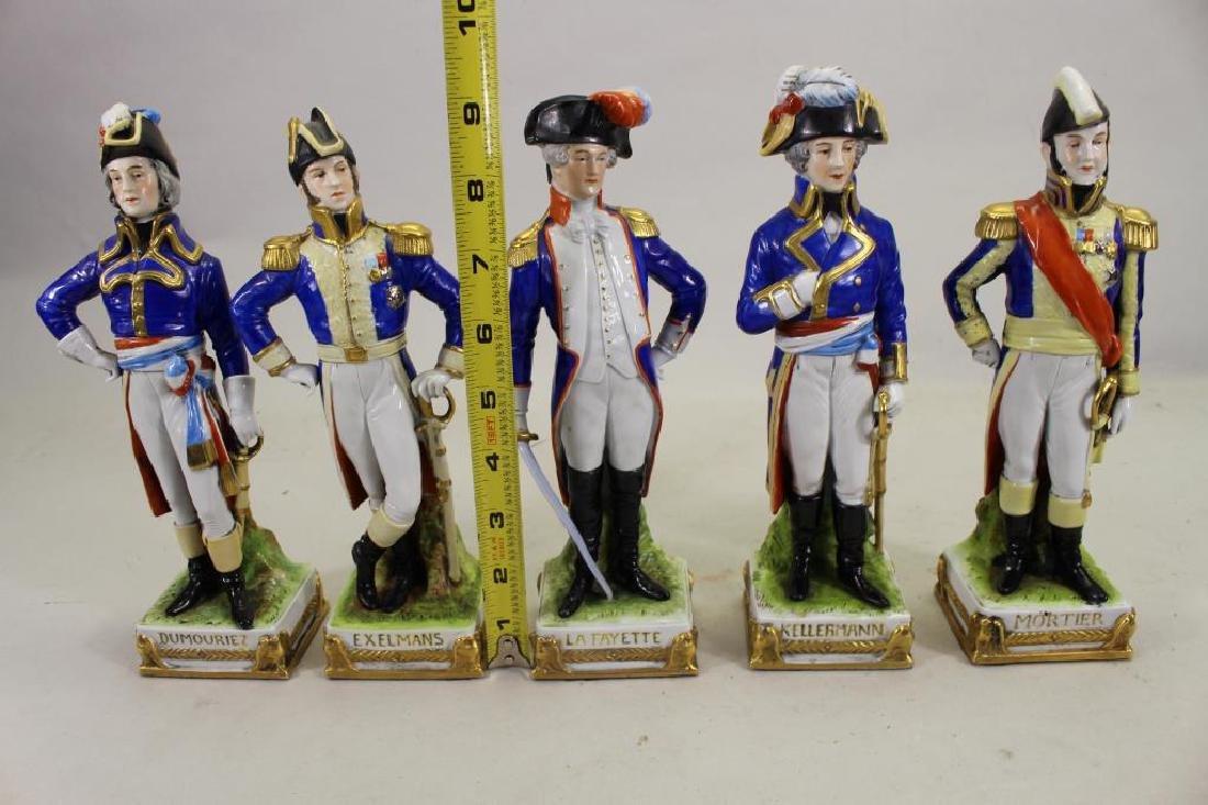 Set of 5 European Soldier Porcelain Figures - 7