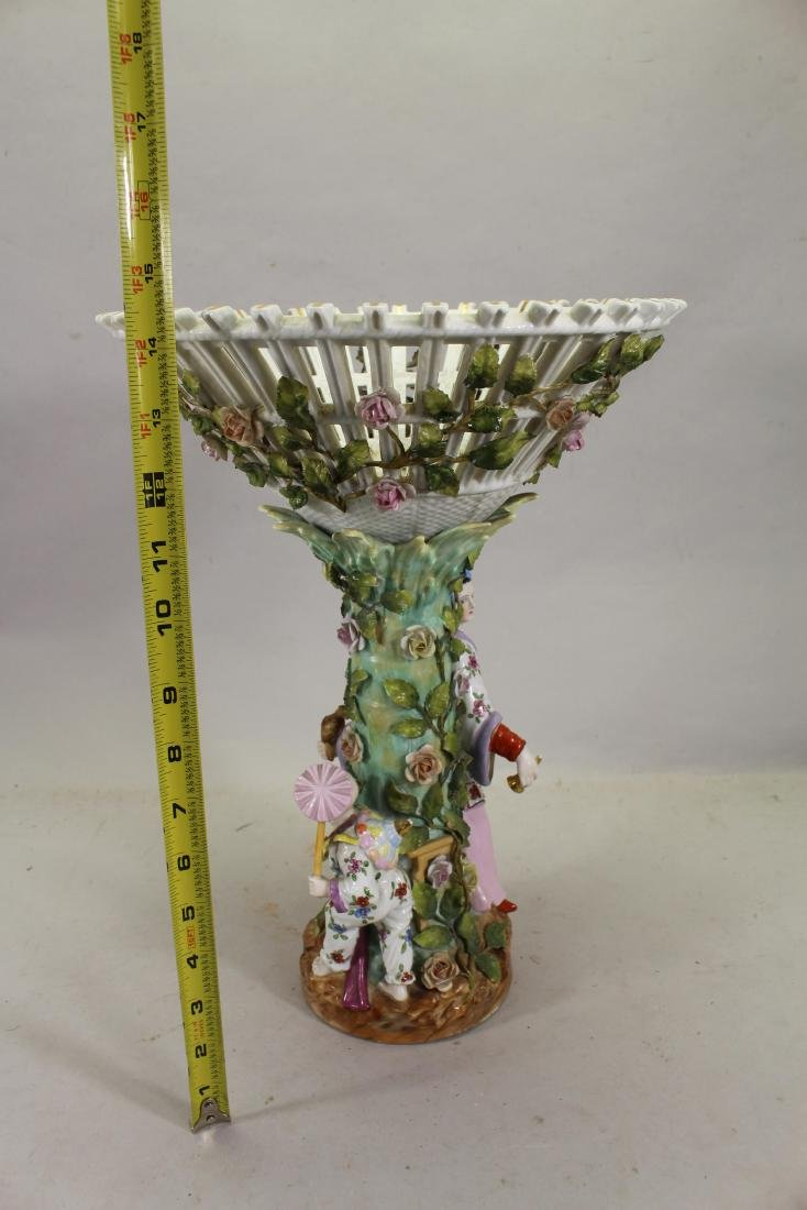 European Figural Porcelain Centerpiece, Signed - 5