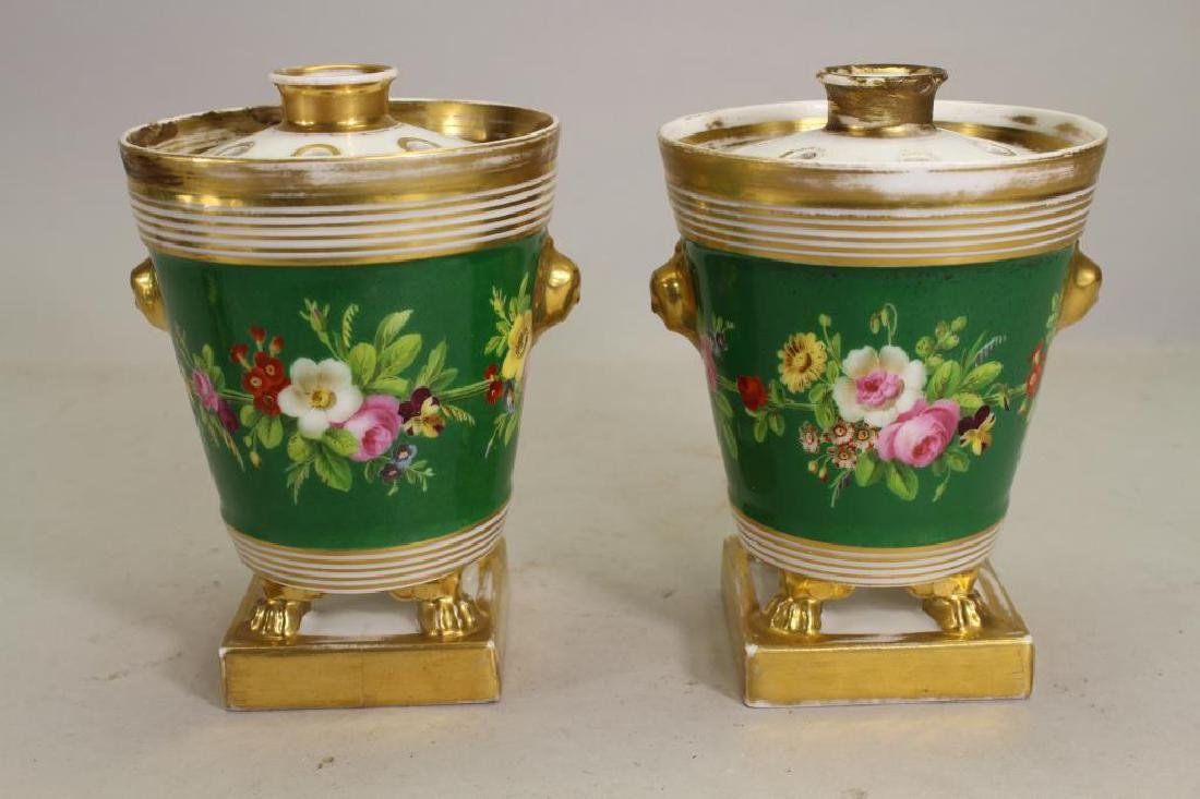 European Gilt/Porcelain Covered Jars