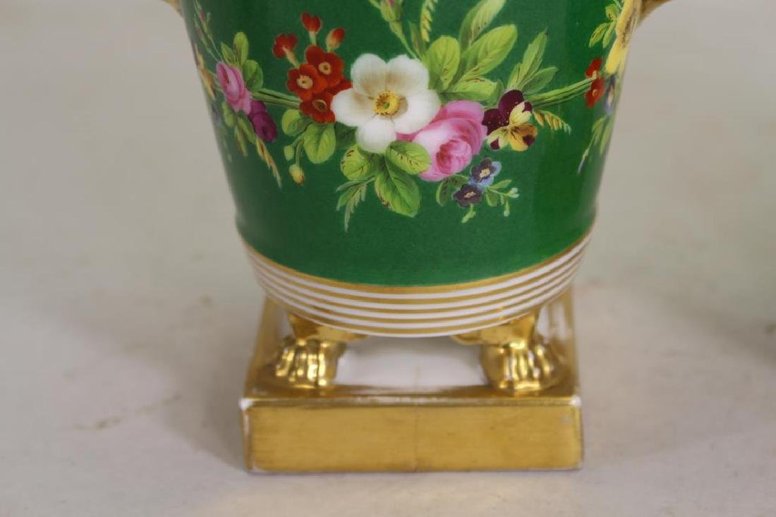 European Gilt/Porcelain Covered Jars - 2