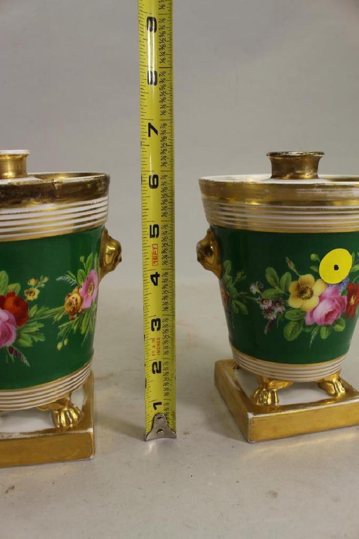 European Gilt/Porcelain Covered Jars - 4