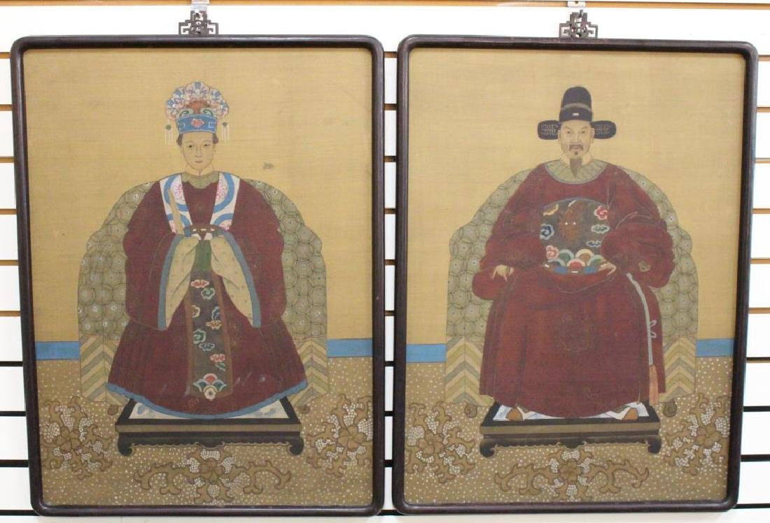 (2) Chinese Paintings of Emperor and Empress