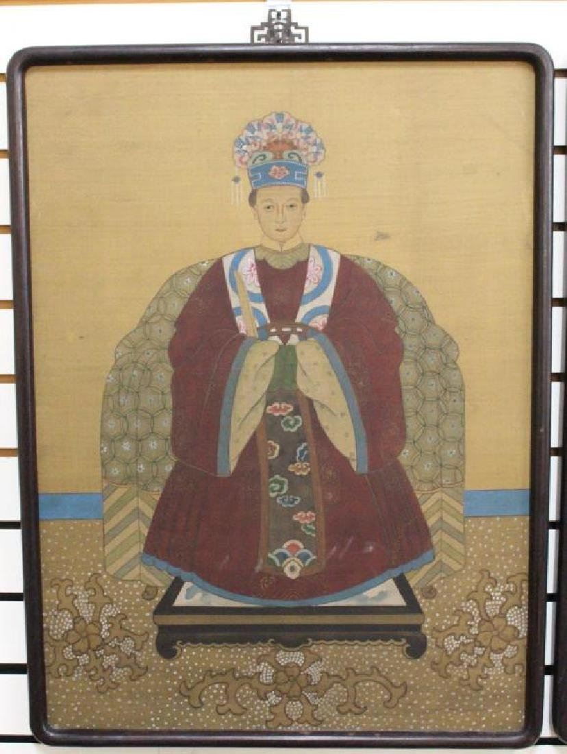 (2) Chinese Paintings of Emperor and Empress - 2
