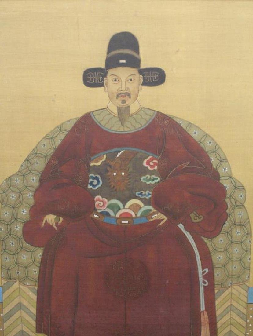 (2) Chinese Paintings of Emperor and Empress - 4