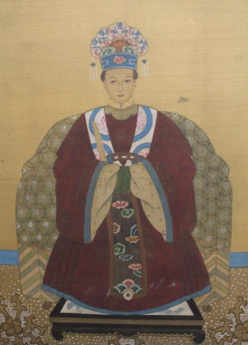 (2) Chinese Paintings of Emperor and Empress - 5