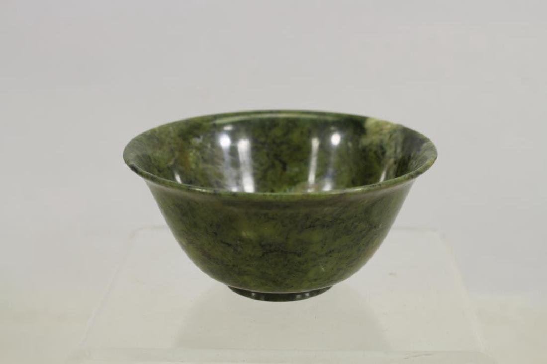 Spinach Colored Translucent Stone Bowl