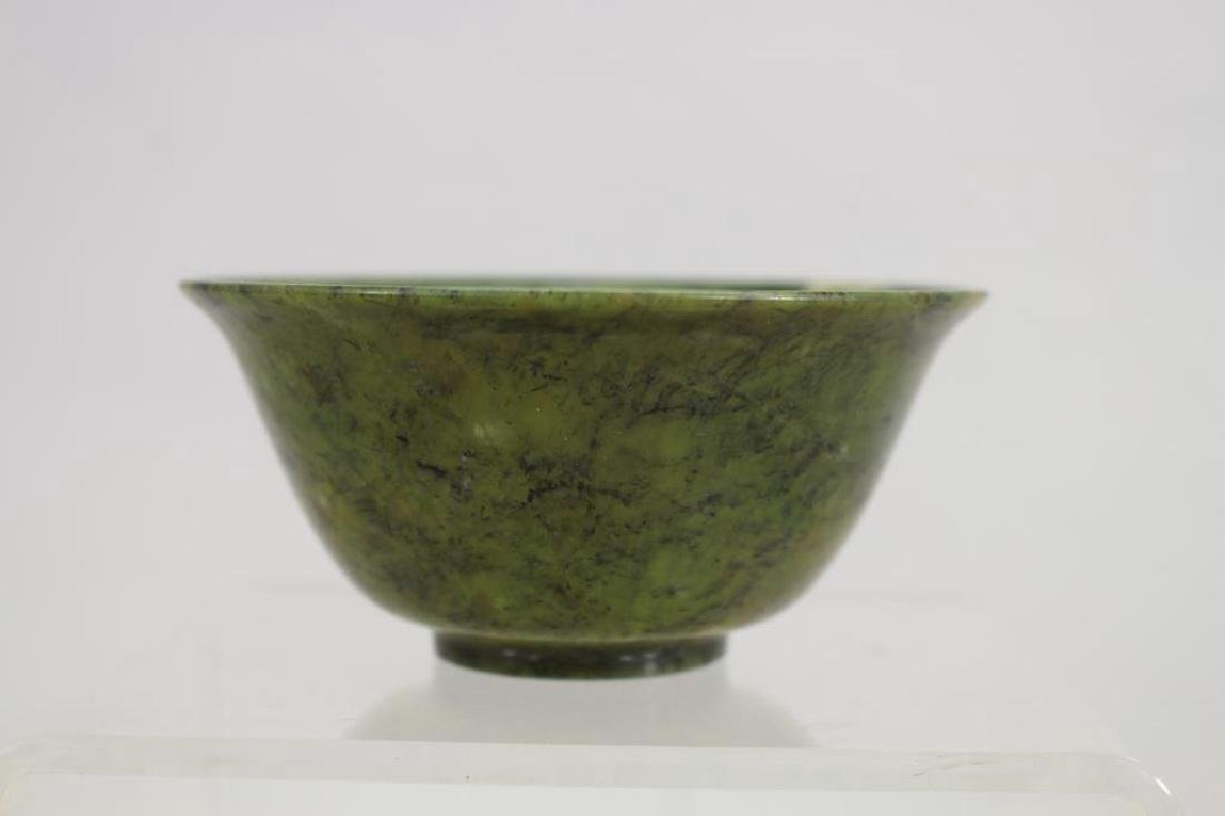 Spinach Colored Translucent Stone Bowl - 2