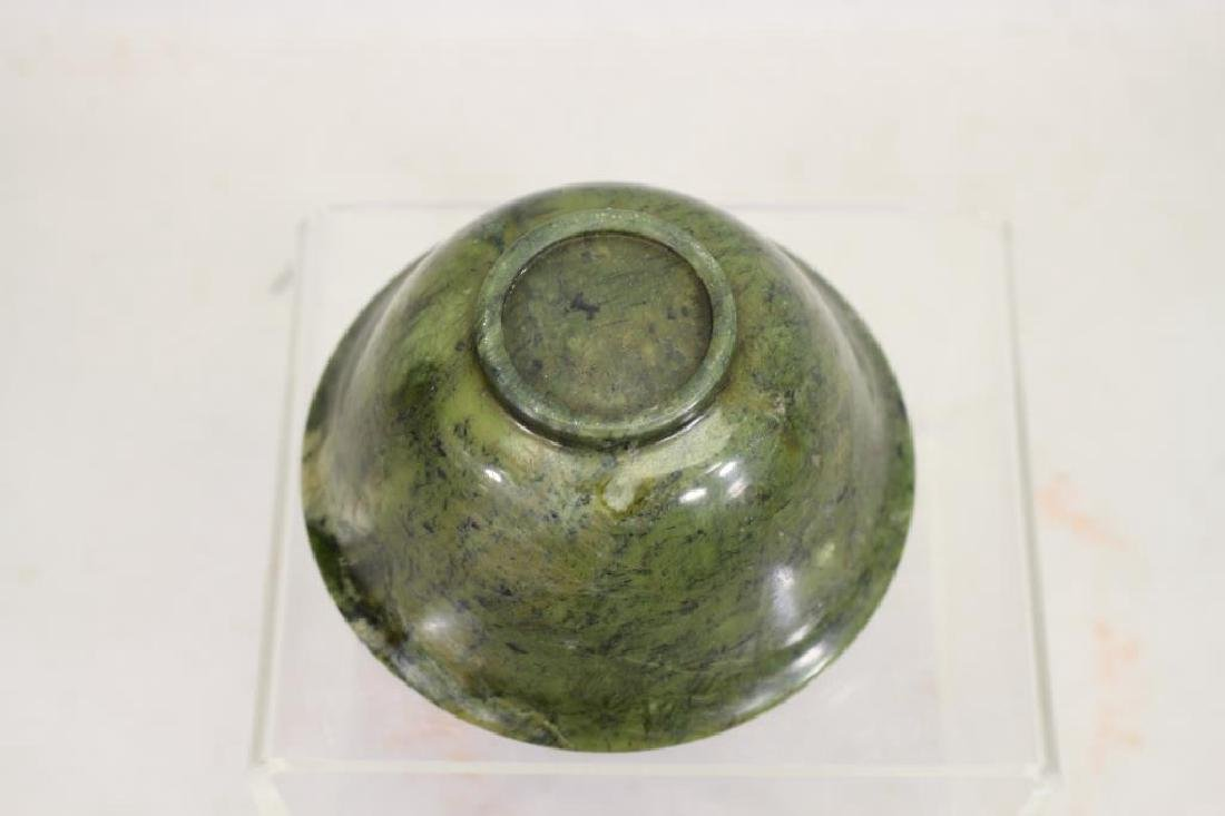 Spinach Colored Translucent Stone Bowl - 4