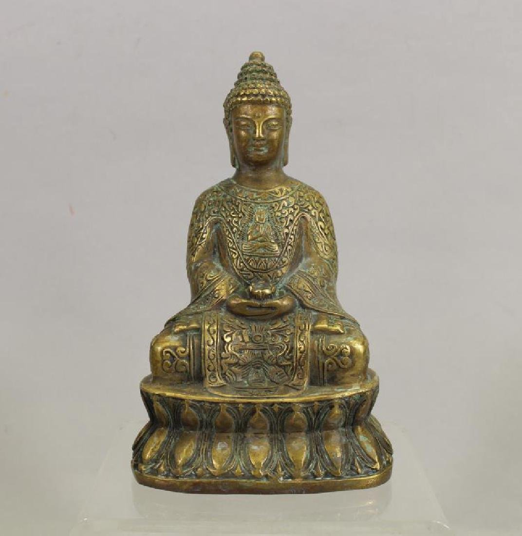20th C. Brass Seated Buddha