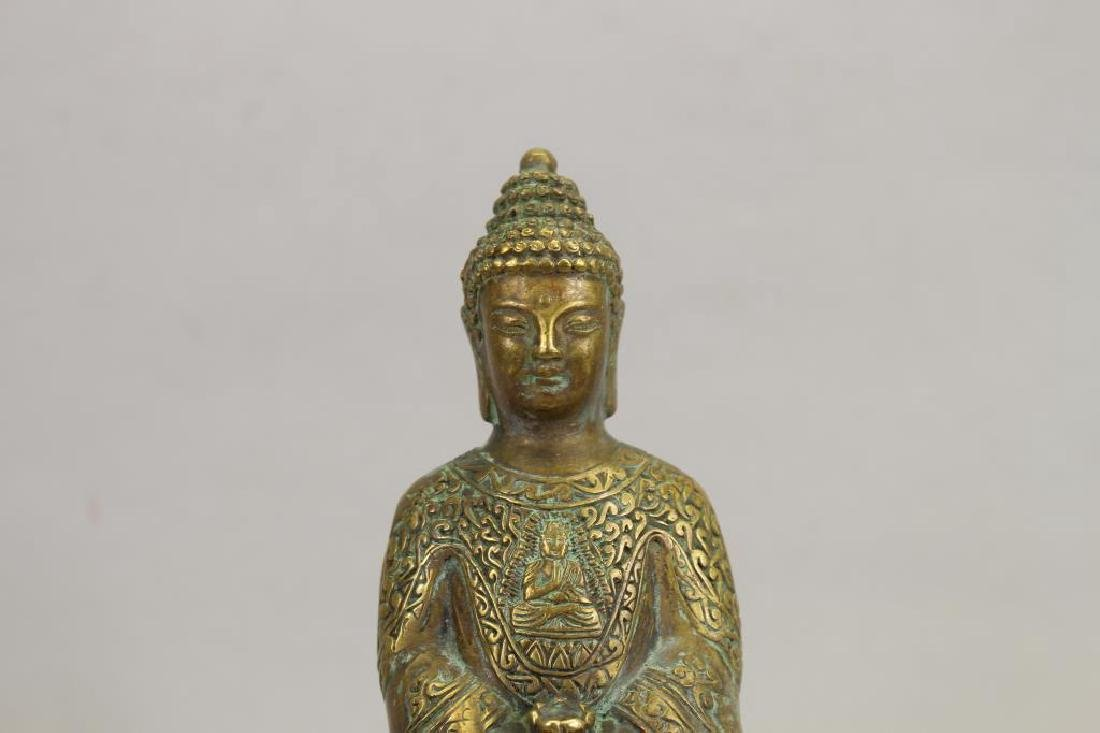 20th C. Brass Seated Buddha - 2