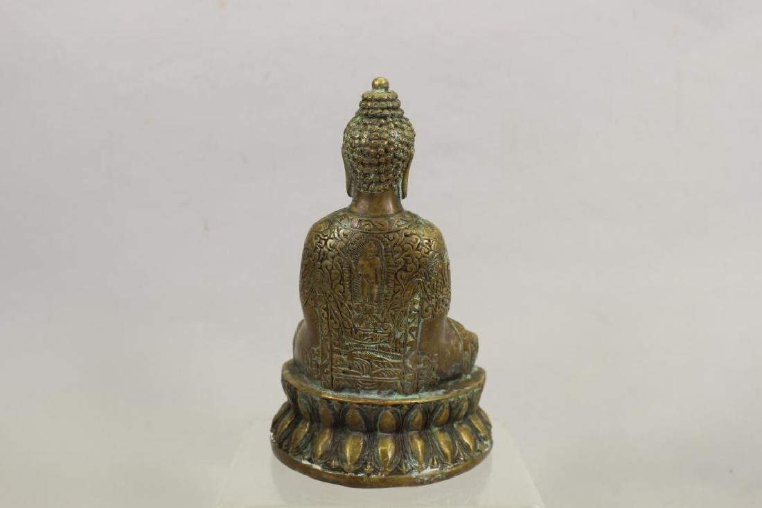20th C. Brass Seated Buddha - 4