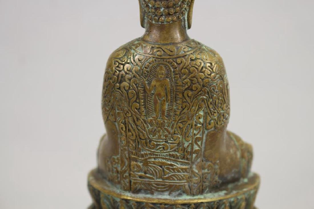 20th C. Brass Seated Buddha - 5