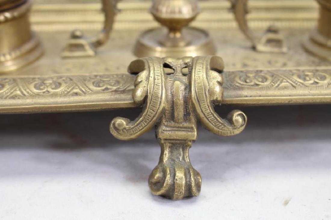 Antique Bronze Inkwell - 4