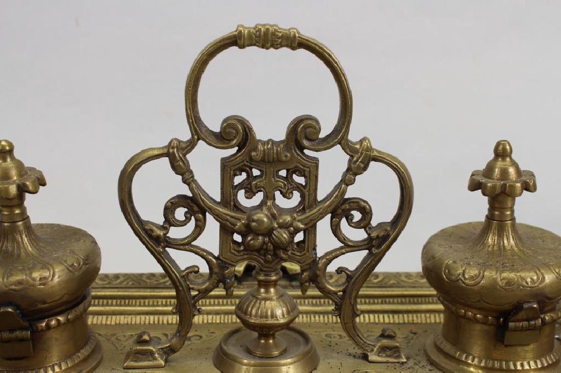 Antique Bronze Inkwell - 5