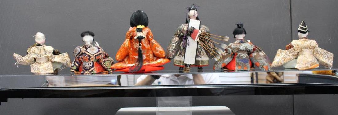 Japanese Dolls in Custom Plexiglass Case - 6