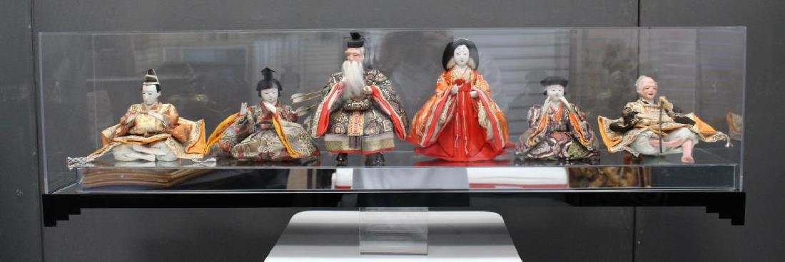 Japanese Dolls in Custom Plexiglass Case - 7