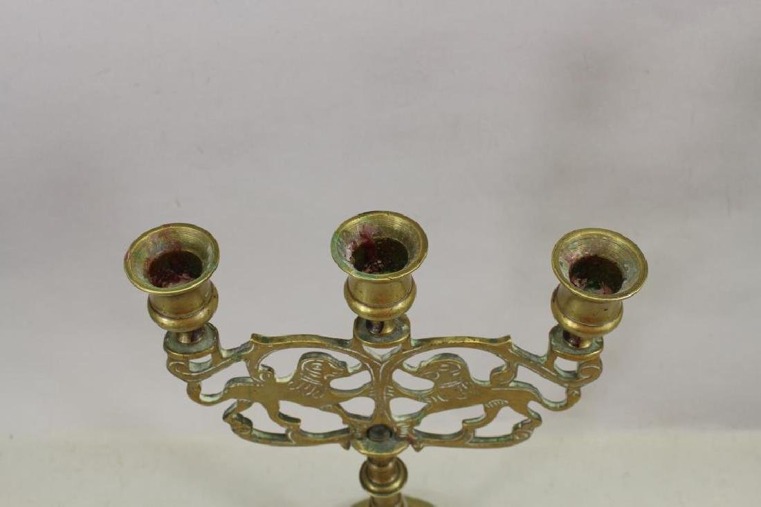 Early 20th C. Jewish Candlestick - 5
