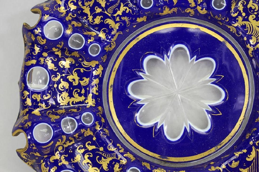 Italian Cobalt/Gilt Glass Dish - 2