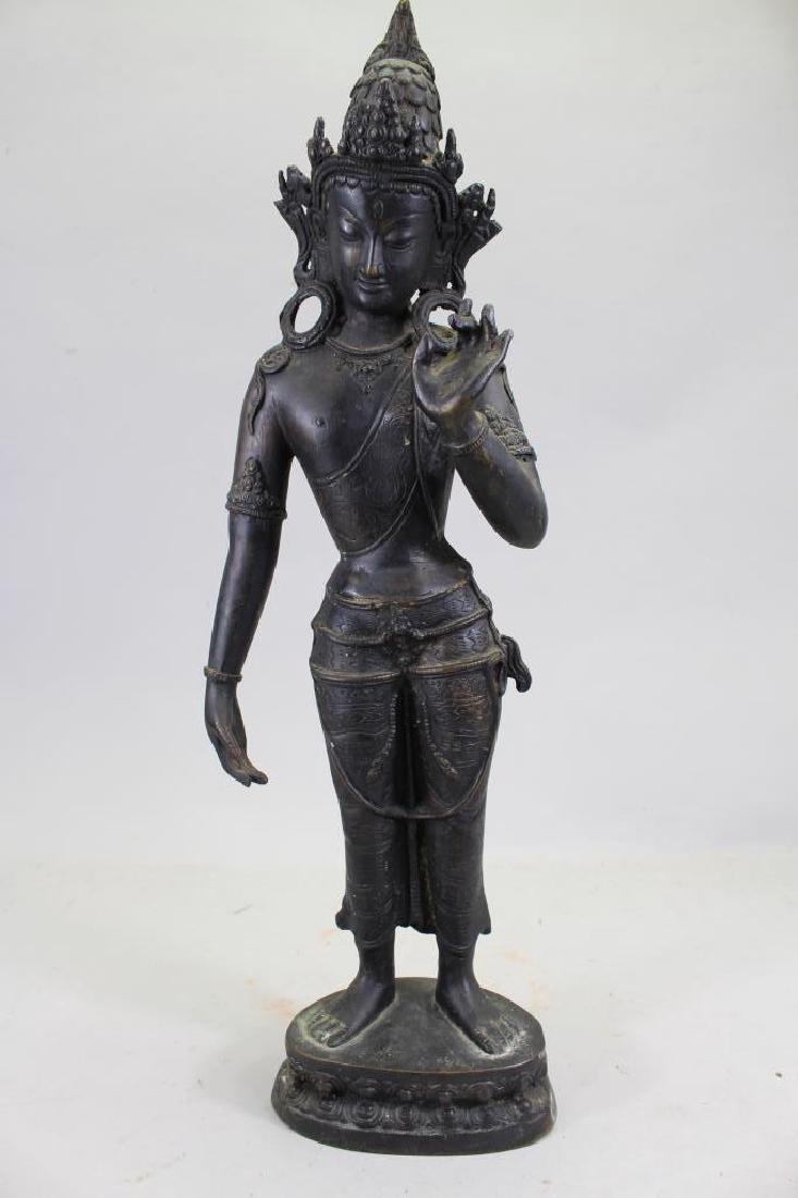Antique Bronze Thai Standing Dvaravati