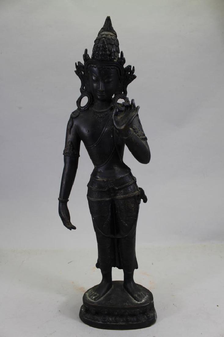 Antique Bronze Thai Standing Dvaravati - 2