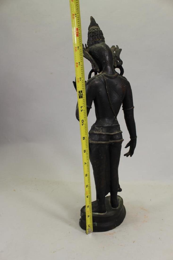 Antique Bronze Thai Standing Dvaravati - 3